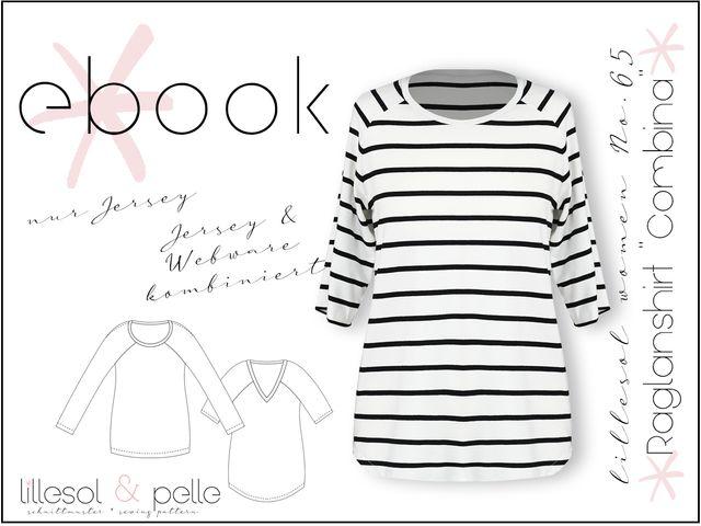 """Produktfoto von Lillesol & Pelle zum Nähen für Schnittmuster Lillesol Women No. 65 Raglanshirt """"Combina"""""""