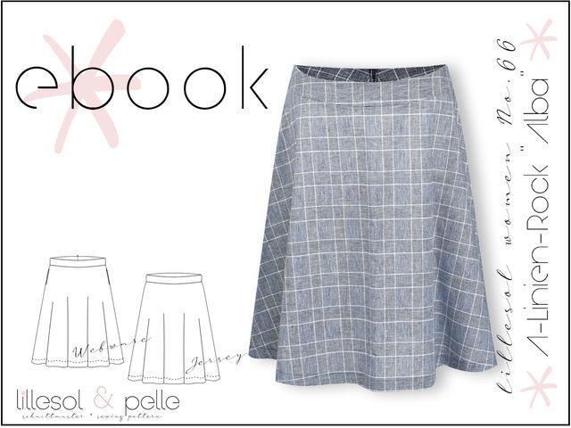 """Produktfoto von Lillesol & Pelle zum Nähen für Schnittmuster Lillesol Women No. 66 A-Linien-Rock """"Alba"""""""