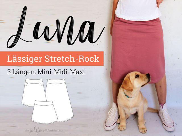 Produktfoto von Jolijou zum Nähen für Schnittmuster A-Linien-Rock Luna