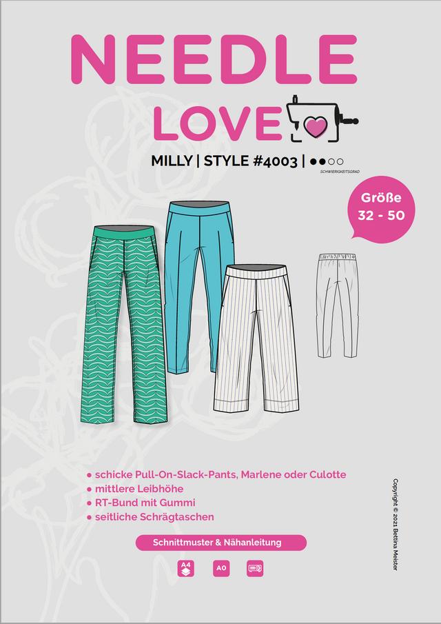 Produktfoto von {NEEDLE LOVE} zum Nähen für Schnittmuster MILLYpants