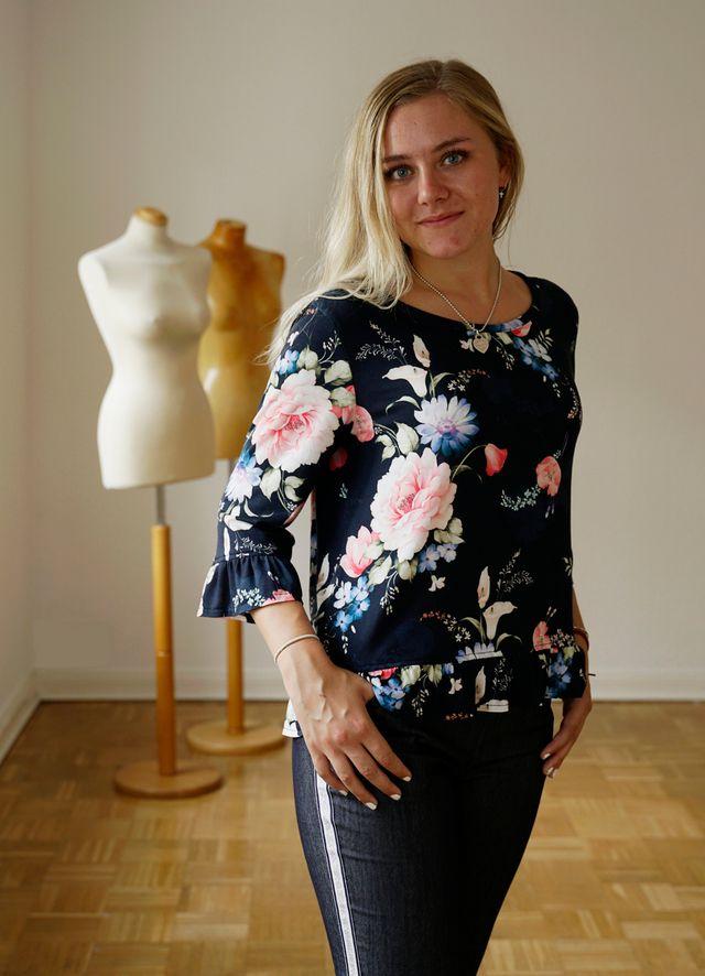 Produktfoto von Miou Miou zum Nähen für Schnittmuster Shirtbluse Amea