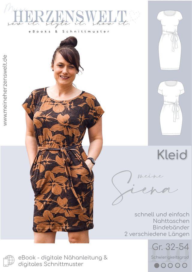 Produktfoto von Meine Herzenswelt zum Nähen für Schnittmuster Kleid Damen  - Meine Siena