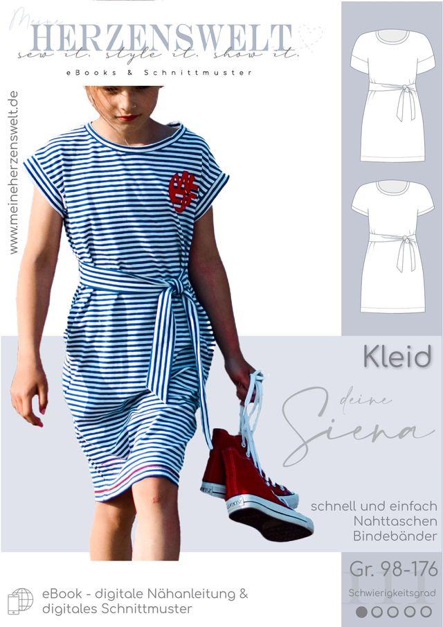 Produktfoto von Meine Herzenswelt zum Nähen für Schnittmuster Kleid Mädchen - Deine Siena