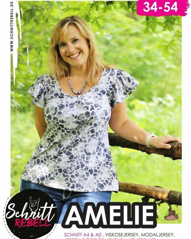 Produktfoto von Schnittrebell zum Nähen für Schnittmuster Shirt Amelie