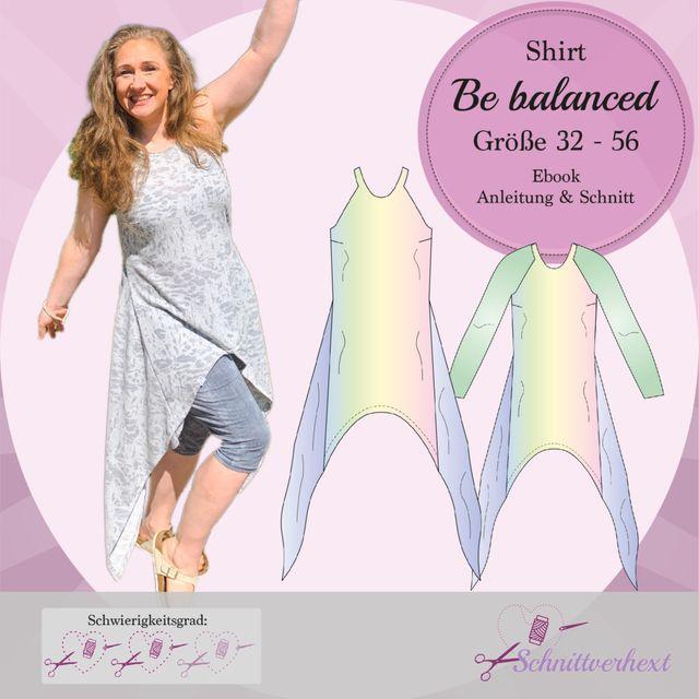Produktfoto von Schnittverhext zum Nähen für Schnittmuster Shirt Be balanced