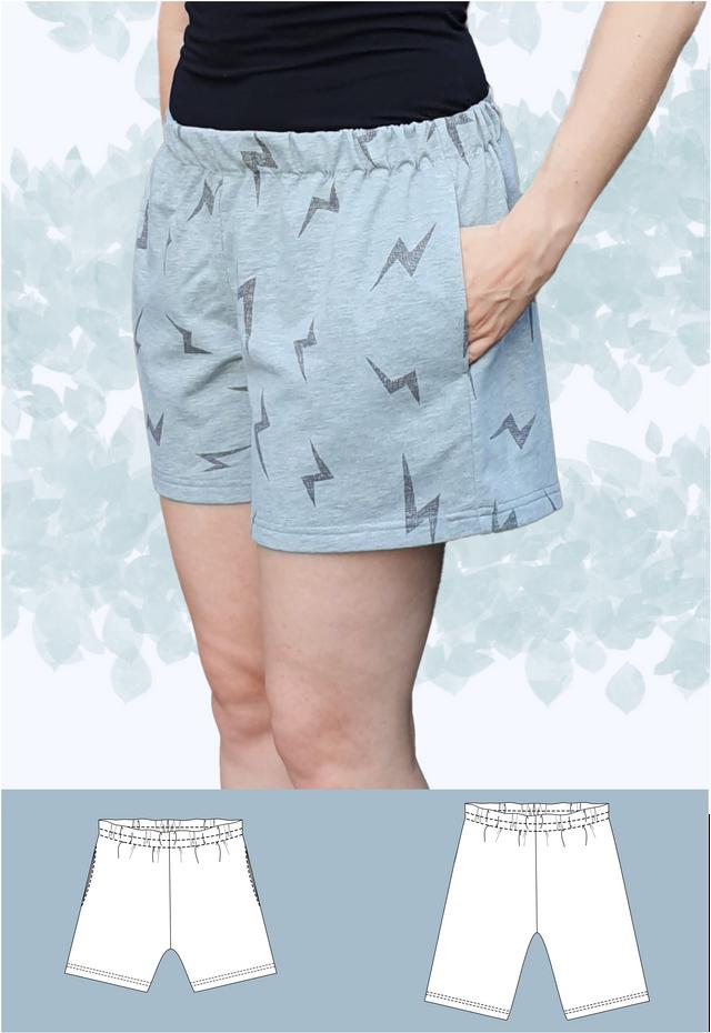 Produktfoto von Schneidermeer zum Nähen für Schnittmuster Shorts Alex