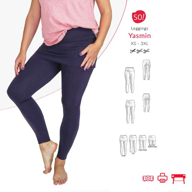 Produktfoto von SO Pattern zum Nähen für Schnittmuster Leggings Yasmin