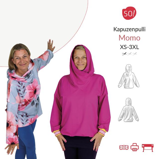 Produktfoto von SO Pattern zum Nähen für Schnittmuster Kapuzenpullover Momo