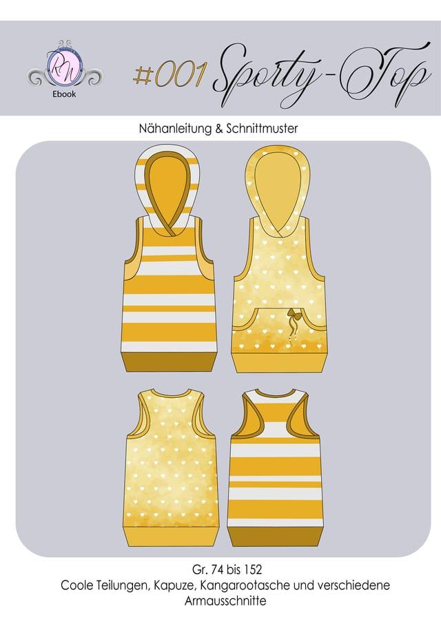 Produktfoto von Rosalieb & Wildblau zum Nähen für Schnittmuster Sporty-Top