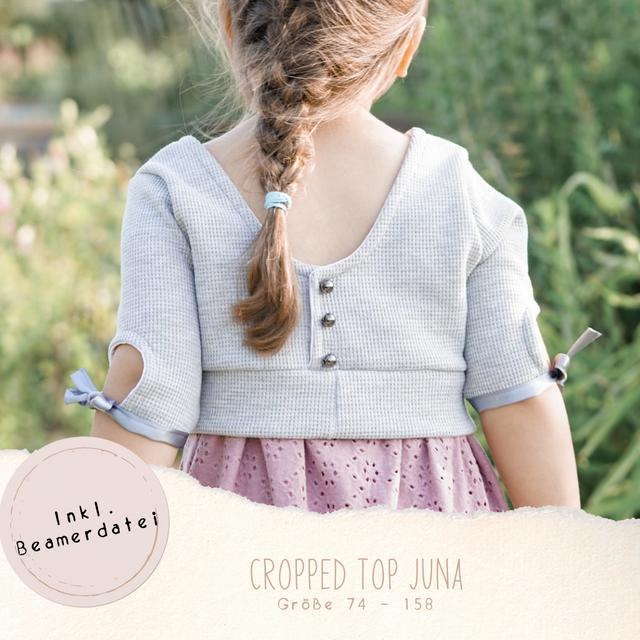 Produktfoto von Ba.binaa Patterns zum Nähen für Schnittmuster Cropped Top Juna