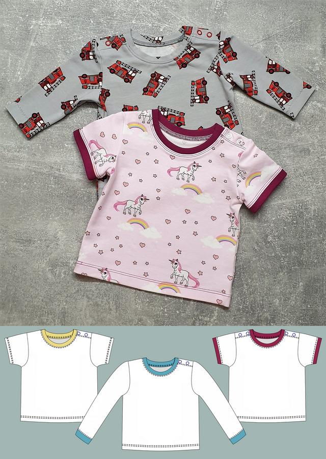 Produktfoto von Schneidermeer zum Nähen für Schnittmuster Babyshirt Fin