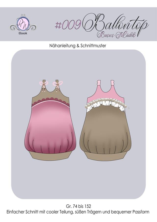 Produktfoto von Rosalieb & Wildblau zum Nähen für Schnittmuster Ballontop