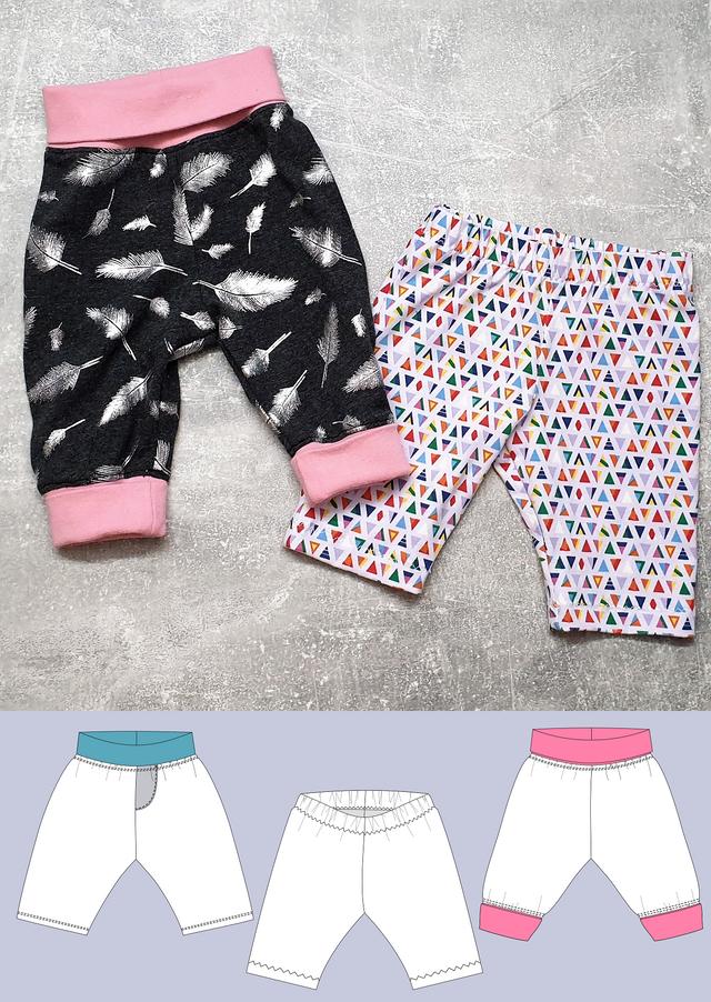 Produktfoto von Schneidermeer zum Nähen für Schnittmuster Babyhose Lena