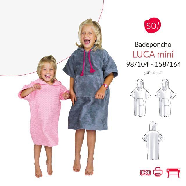 Produktfoto von SO Pattern zum Nähen für Schnittmuster Badeponcho Luca mini