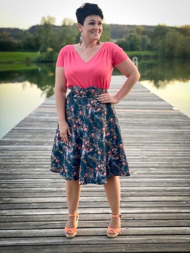 Produktfoto von sewing epiphanies zum Nähen für Schnittmuster Kleid/Shirt Scintilla