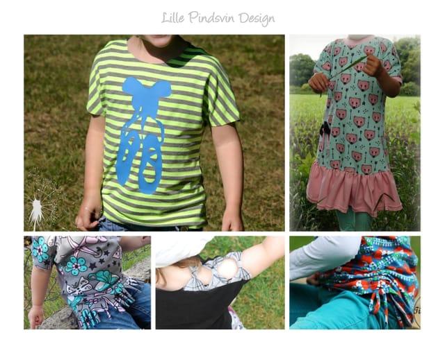 Produktfoto von Lille Pindsvin Design zum Nähen für Schnittmuster Ratz-Fatz-Shirt mini Mädchen
