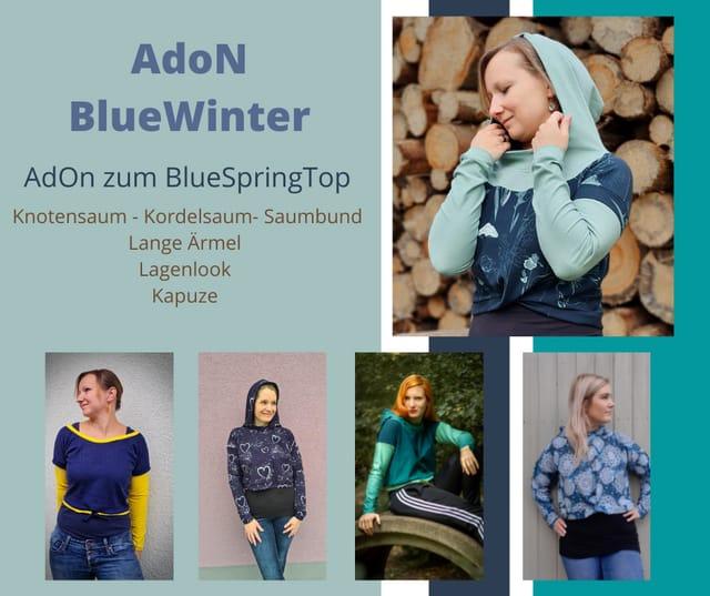 Produktfoto von Fadenblau zum Nähen für Schnittmuster Wintererweiterung zum Blue Spring Top