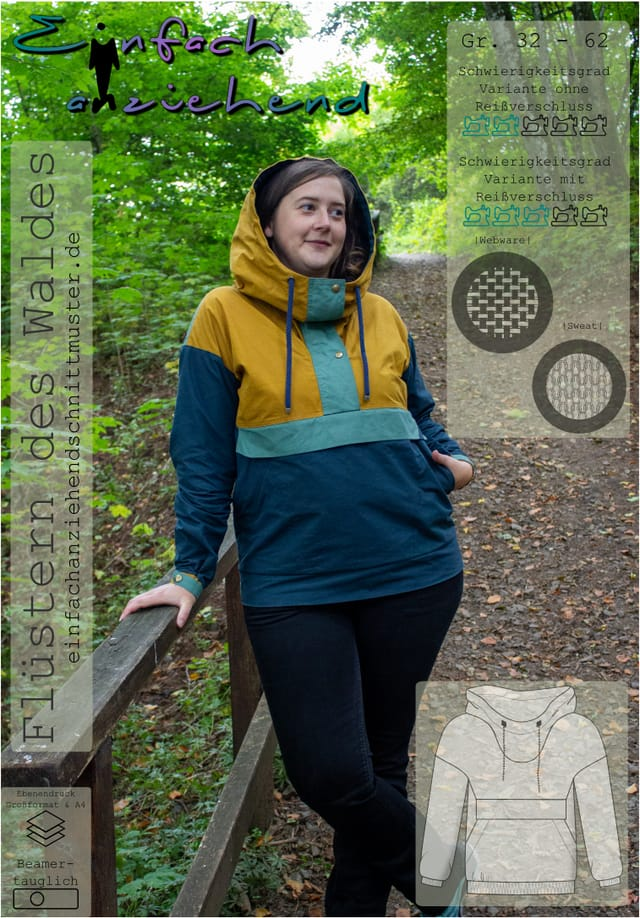 Produktfoto von einfach anziehend zum Nähen für Schnittmuster Flüstern des Waldes (Damen)