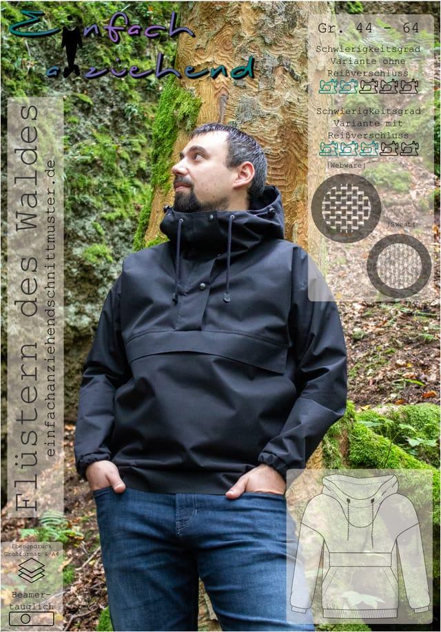 Produktfoto von einfach anziehend zum Nähen für Schnittmuster Flüstern des Waldes (Herren)