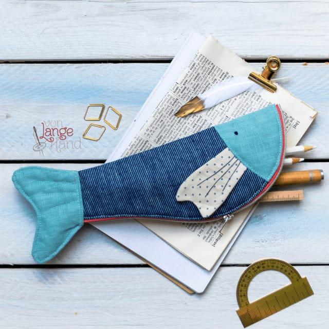 Produktfoto von Von Lange Hand zum Nähen für Schnittmuster Sprotte-Stiftemäppchen