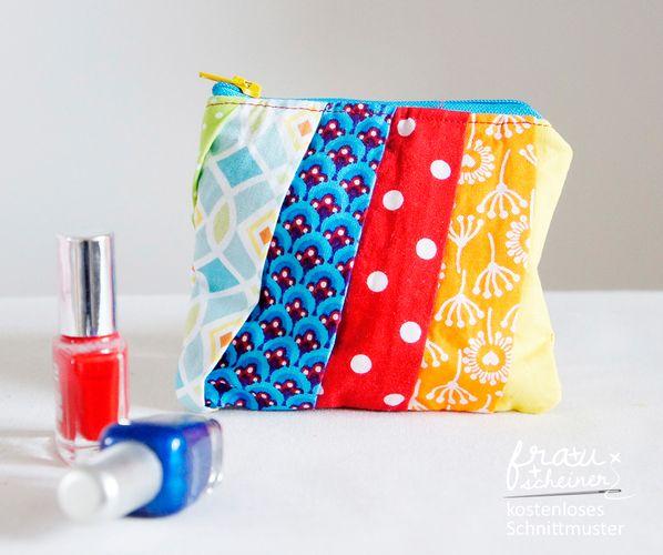 Produktfoto von Frau Scheiner zum Nähen für Schnittmuster Geldbeutel mit Plissee