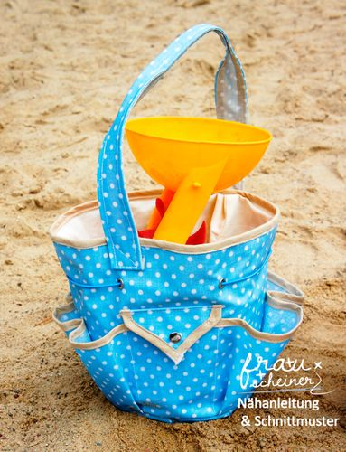 Produktfoto von Frau Scheiner zum Nähen für Schnittmuster BuddelTasche für Sandkasten