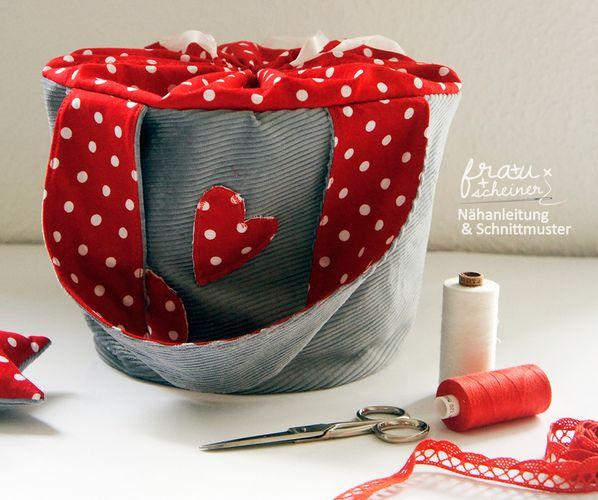 Produktfoto von Frau Scheiner zum Nähen für Schnittmuster Nähkorb Utensilo