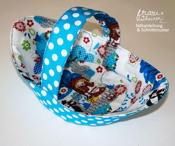 Produktfoto von Frau Scheiner zum Nähen für Schnittmuster Körbchen Blumenmädchen