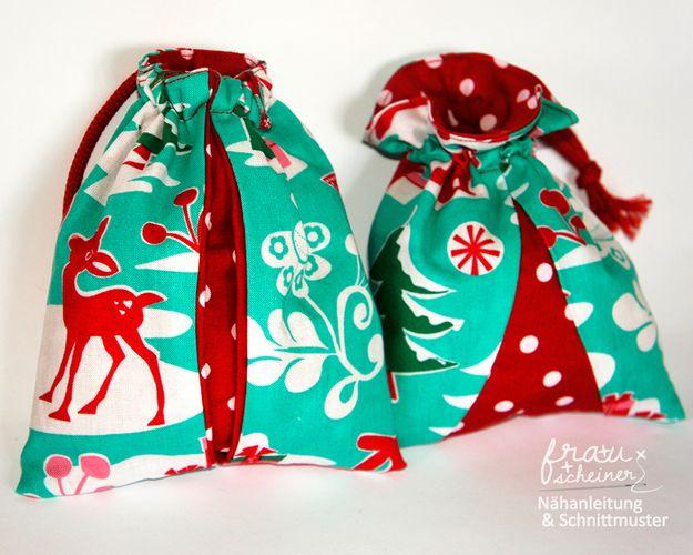 Produktfoto von Frau Scheiner zum Nähen für Schnittmuster Geschenkbeutel mit Kellerfalte