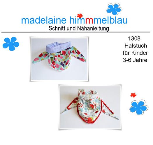 Produktfoto von madelaine himmmelblau zum Nähen für Schnittmuster 1308 Halstuch für Kinder ab 3 Jahre