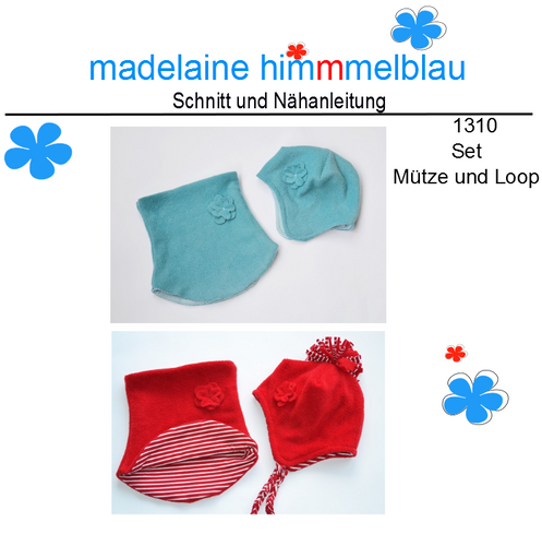 Produktfoto von madelaine himmmelblau zum Nähen für Schnittmuster 1310 Mütze und Loop