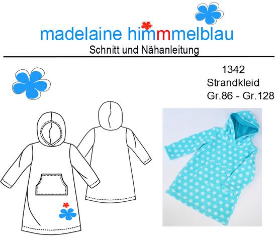 Produktfoto von madelaine himmmelblau zum Nähen für Schnittmuster 1342 Strandkleid