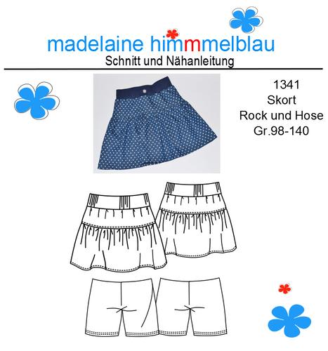Produktfoto von madelaine himmmelblau für Schnittmuster 1341 Skort