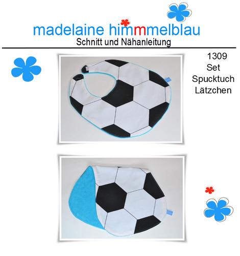 Produktfoto von madelaine himmmelblau zum Nähen für Schnittmuster 1309 Spucktuch Lätzchen