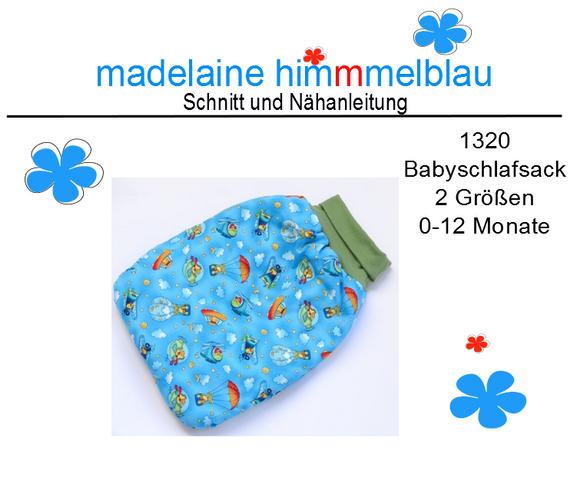 Produktfoto von madelaine himmmelblau zum Nähen für Schnittmuster 1320 Babyschlafsack