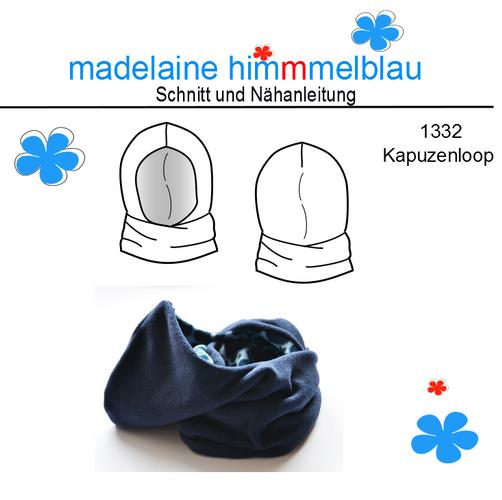 Produktfoto von madelaine himmmelblau zum Nähen für Schnittmuster 1332 Kapuzenloop