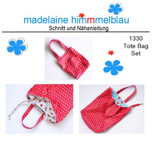 Produktfoto von madelaine himmmelblau zum Nähen für Schnittmuster 1330 Tote Bag