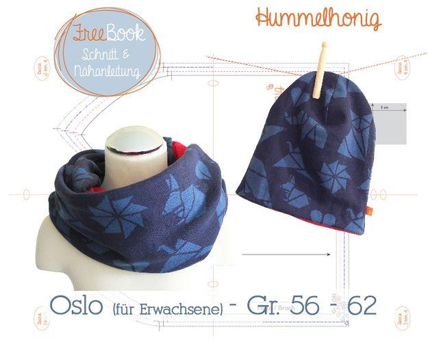 Produktfoto von Hummelhonig zum Nähen für Schnittmuster Oslo - Beanie und Loop
