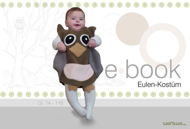 Produktfoto von worawo zum Nähen für Schnittmuster Eulen-Kostüm