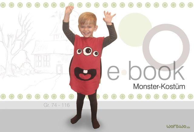 Produktfoto von worawo zum Nähen für Schnittmuster Monster-Kostüm rot