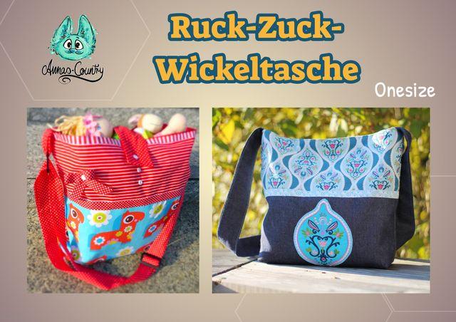 Produktfoto von Annas-Country zum Nähen für Schnittmuster Ruck Zuck Wickeltasche