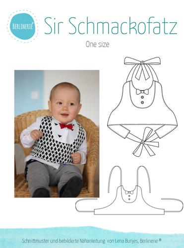 Produktfoto von Berlinerie zum Nähen für Schnittmuster Lätzchen Sir Schmackofatz