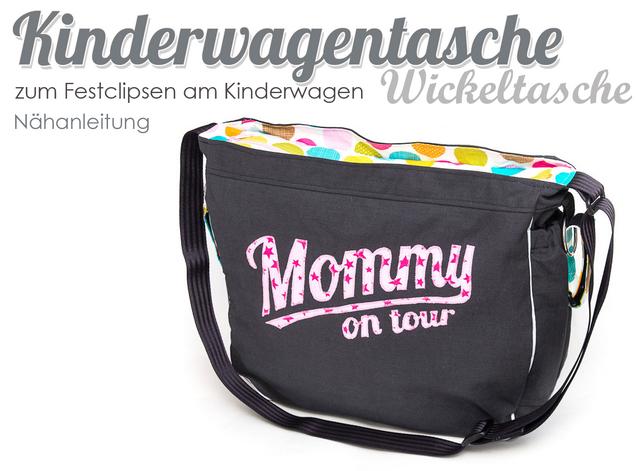 Produktfoto von Kubischneck zum Nähen für Schnittmuster Kinderwagentasche
