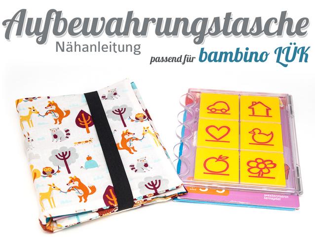 Produktfoto von Kubischneck zum Nähen für Schnittmuster Aufbewahrungstasche passend für bambino LÜK