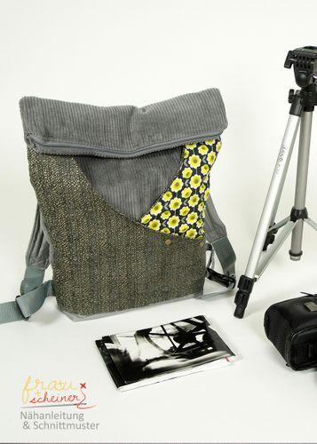 Produktfoto von Frau Scheiner zum Nähen für Schnittmuster Rucksack oder Schultertasche