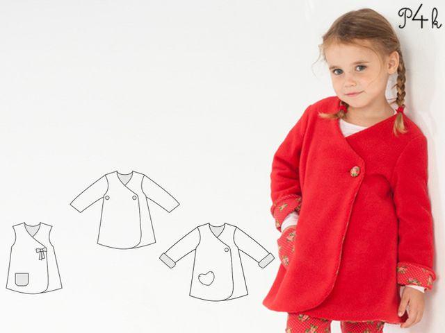Produktfoto von Pattern 4 kids zum Nähen für Schnittmuster Lena
