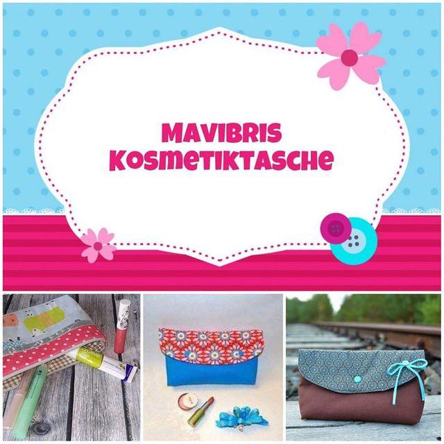 Produktfoto von Mavibri zum Nähen für Schnittmuster Mavibris Kosmetiktasche