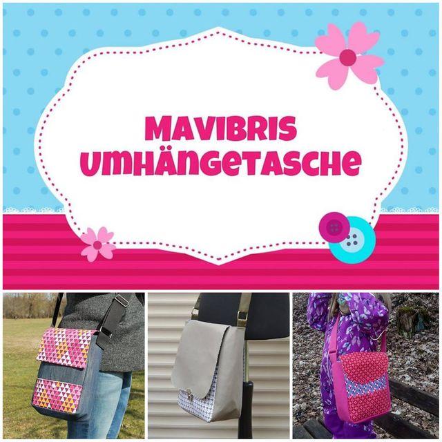 Produktfoto von Mavibri zum Nähen für Schnittmuster Mavibris Umhängetasche