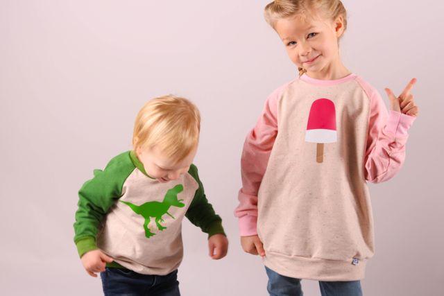 Produktfoto von Kid5 zum Nähen für Schnittmuster #5 Raglan Sweater