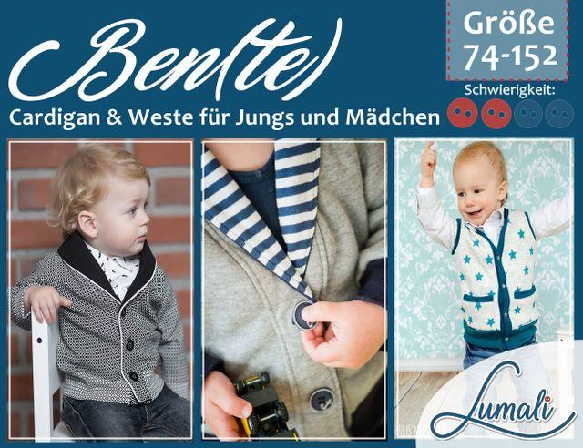 Produktfoto von Lumali zum Nähen für Schnittmuster Cardigan Ben(te)